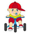 boy bike vector image