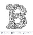 letter b symbol of white leaves vector image