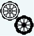 Old wheel motorcycle vector image