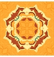 Seamless pattern tile with mandala in the center vector image