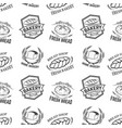 seamless pattern with bakery emblems design vector image