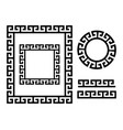 ancient greek frame and border - key pattern vector image