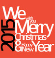 abstract typography christmas card vector image