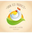 Farm chicken symbol icon vector image vector image