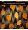 Golden autumn geometric background vector image