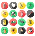 Pest Control Flat Icons Set vector image