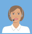 beautiful woman with headset vector image