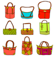 collection of womans accessories vector image