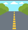 colorful flat design empty road vector image