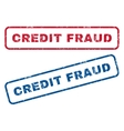 Credit Fraud Rubber Stamps vector image