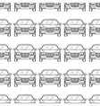 Hand drawn cars silhouette seamless pattern vector image