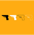 hand gun it is white icon vector image