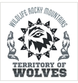 North American designs - Wolves vector image