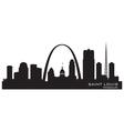 Saint Louis Missouri skyline Detailed silhouette vector image