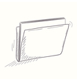 Sketched full folder desktop icon vector image