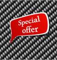 Special offer Speech announcement vector image