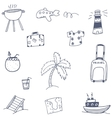 Travel set icon doodle vector image