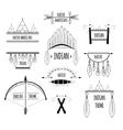 Tribal labels set vector image