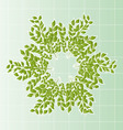 Branches in a wreath with cells vector image