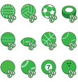 Green sports betting icons vector image vector image