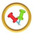 Two pins icon vector image