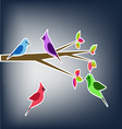 Birds in the spring collage vector image vector image