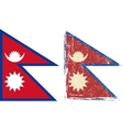 Nepal grunge flag vector image