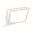 Sketched empty folder desktop icon vector image
