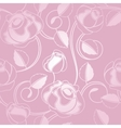 seamless wallpaper pattern with of pink roses vector image vector image