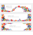 colorful letters banners vector image vector image