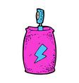 comic cartoon spray can vector image