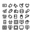 Electronics Icons 10 vector image