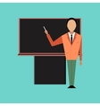flat icon on stylish background male teacher vector image