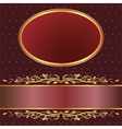 Brown and red background vector image
