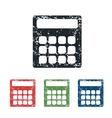 Calculator grunge icon set vector image