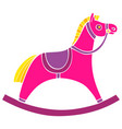 children s rocking chair horse for small children vector image
