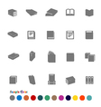 Collection Icons set Book vector image