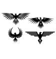 Eagle symbols and tattos vector image