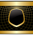 golden frame on black background with grid vector image