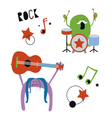 Monsters rock musicians vector image