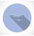 passenger plane icon vector image