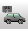 sedan car keys design vector image