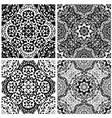 Set of squared backgrounds - ornamental seamless vector image