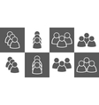 simple people icon set vector image