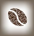 Coffee Vintage Bean Design Element vector image