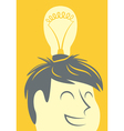 Head lightbulb vector image