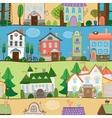 Cute houses castles and establishments design vector image vector image
