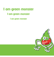 Cartoon monster vector image