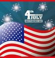 4th july independence day celebration patriotism vector image