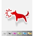 realistic design element dog barking vector image